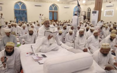 Mumineen performing Ibadat in Lailatul Qadr at Noor Masjid, Rajkot